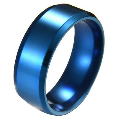 Vintage Stainless Steel 8mm Width Circle Finger Ring
