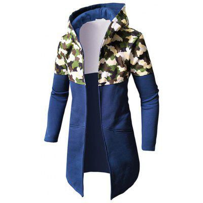 Men Leisure Camouflage Splicing Long Sleeve Jacket