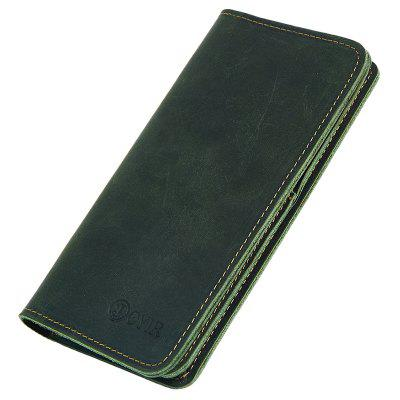 JOYIR 2043 Cowhide Business Retro Long Wallet for Holding Money