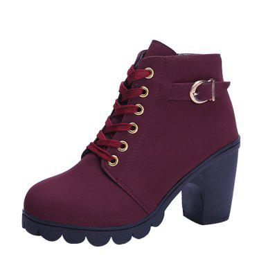 Casual Chunky Heel Ankle Boots for Women