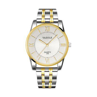 Yazole Quartz Watch with Steel Band for Men