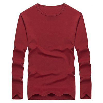 Casual Solid Color Comfortable Tee for Man