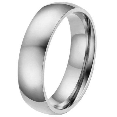 6mm Width Durable Stainless Steel Men Ring