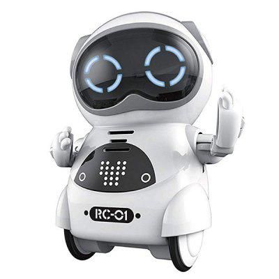 Gearbest Mini Electric Multifunction Intelligent Smart Robot - WHITE