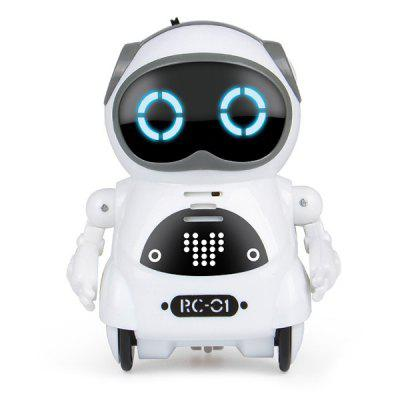 Gearbest Mini Electric Multifunction Intelligent Smart Robot - WHITE for Children