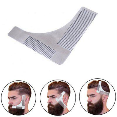 Men Beard Styling Template Stainless Steel Comb