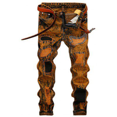 Retro Holes Ripped Jeans for Men