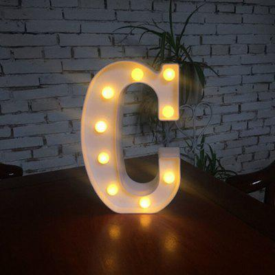 LED Night Light 26 Lettere dell'alfabeto Numeri Combinazione decorativa fai da te 1pz