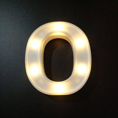 LED Night Light 26 Alphabet Letters Numbers DIY Combination Decorative Lamp 1pc