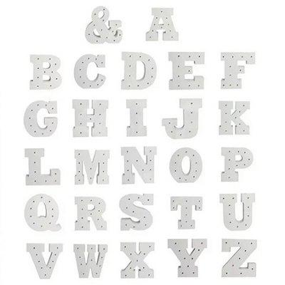 LED Veilleuse 26 Alphabet Letters Numbers DIY Combinaison Lampe Décorative 1pc
