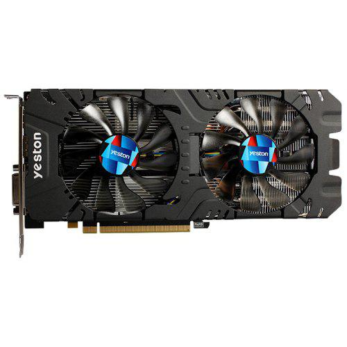 yeston RX570 4G 1244MHz Video VGA Graphics Card - BLACK