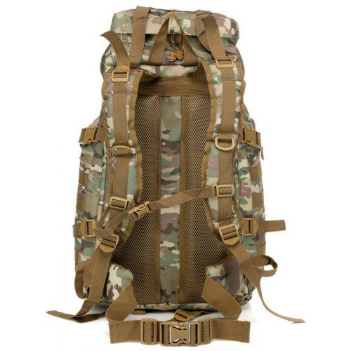 Outdoor Waterproof 60L Multifunctional Tactical Backpack - WOODLAND CAMOUFLAGE
