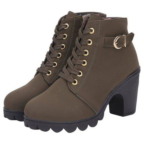 7275f4b2c4 Casual Chunky Heel Ankle Boots for Women | Gearbest