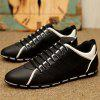 English Style Leather Casual Shoes for Men - BLACK