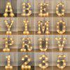 LED Night Light 26 Alphabet Letters Numbers DIY Combination Decorative Lamp 1pc - WHITE