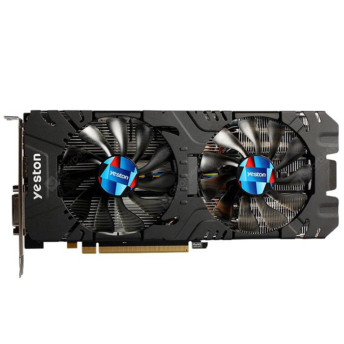 yeston RX570 4G 1244MHz Video VGA Graphics Card BLACK