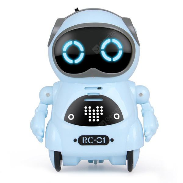 Mini Electric Multifunction Intelligent Smart Robot - LIGHT BLUE