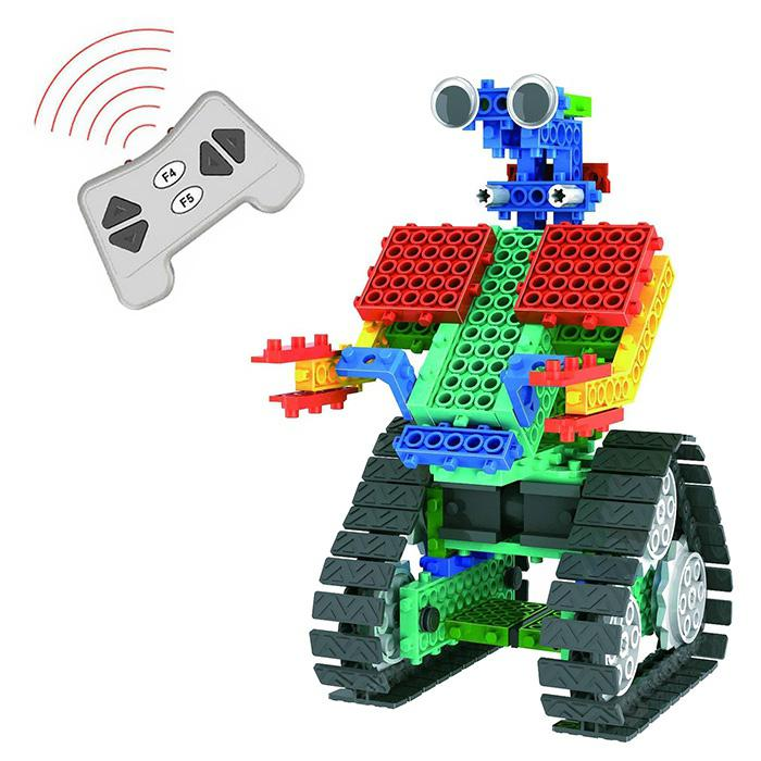 137pcs DIY Remote Control Robot Educational Building Block Toy - MULTI
