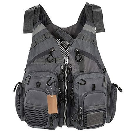 Outdoor Multifunctional Bag Multi-pocket Adventure Vest - GRAY