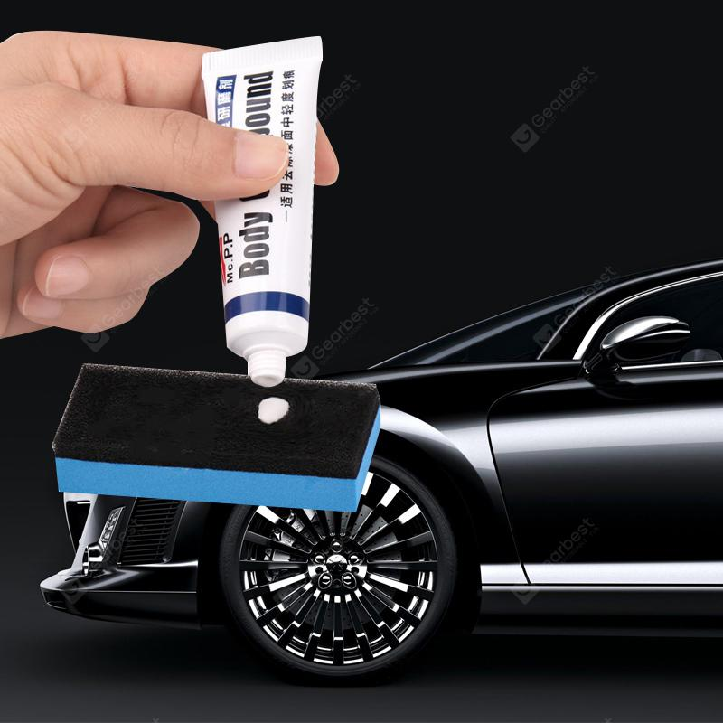 JJ - M06 Car Scratch Remover Paste with Sponge Brush - WHITE