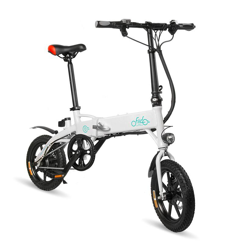 FIIDO D1 Folding Electric Bike Moped Bicycle E-bike - White EU Plug / 7.8Ah