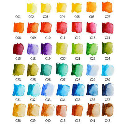 Portable Solid Watercolor Paint Set Hand-painted 42 Color
