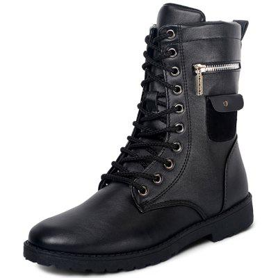 High Top Genuine Leather Martin Boots for Men