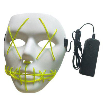 LED Scary Face Halloween Carnival Mask