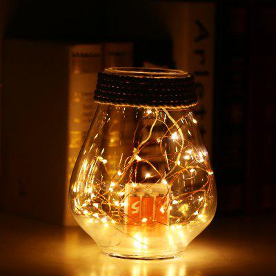Gearbest 5m 50-LED String Light with Battery Box - WARM WHITE BATTERY BOX