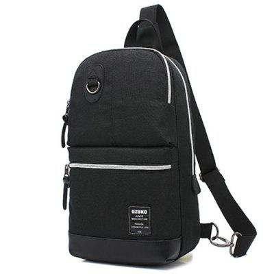 ozuko Multifunction Canvas Chest Bag Backpack