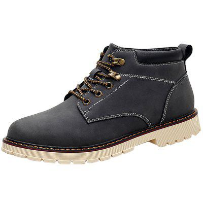 Classic Vintage Leisure Solid Color Boots for Men