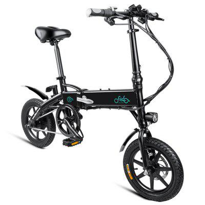 Gearbest FIIDO D1 Folding Electric Bike Moped Bicycle E-bike - BLACK 10.4AH BATTERY Power Assist System / Aluminum Alloy