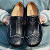 Male Genuine Leather Wearable Casual Shoes - BLACK