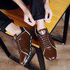 PU Leather Casual Lace Up Shoes for Men - BROWN