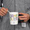 Creative Gamepad Design Ceramic Mug Cup - WHITE