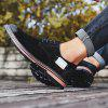 Trendy Casual Pigskin Wearable Shoes for Men - BLACK