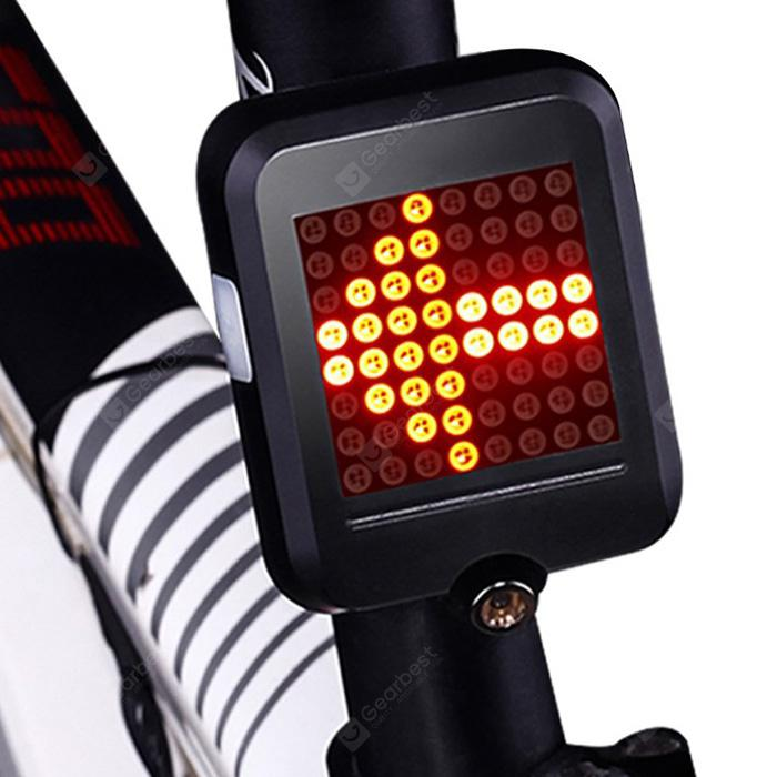 Intelligent Bicycle Direction Indicator Light - Black