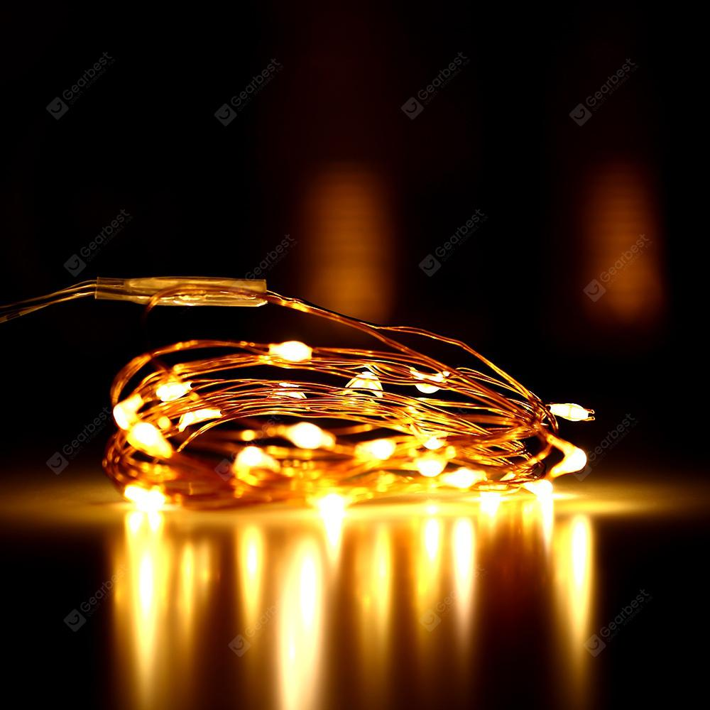 2m 20 LED USB Copper String Light - COPPER