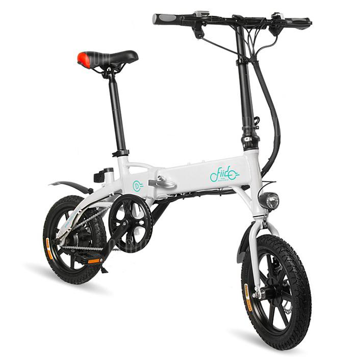 FIIDO D1 Folding Electric Bike Moped Bicycle E-bike - White 10.4Ah Battery