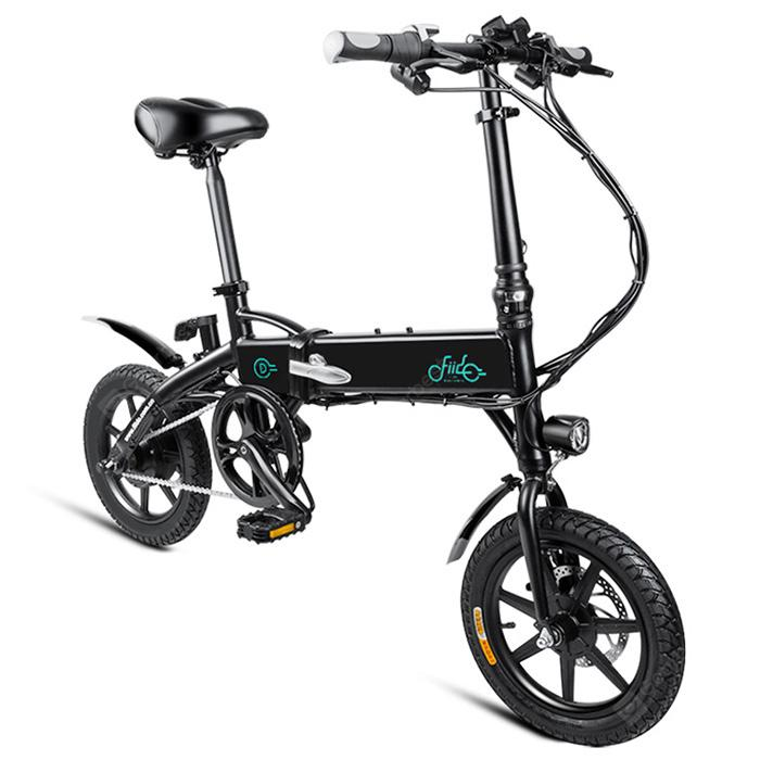FIIDO D1 Folding Electric Bike Moped Bicycle E-bike - BLACK 7.8AH BATTERY