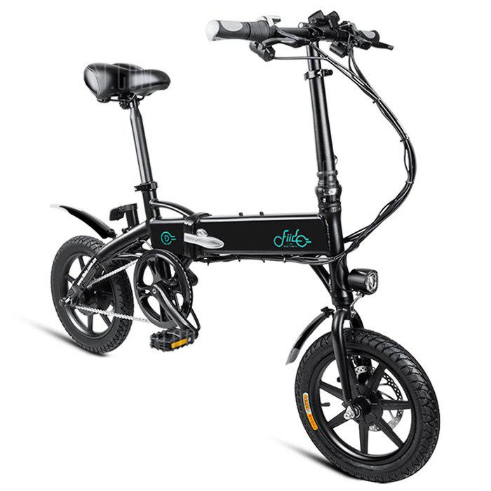 FIIDO D1 Folding Electric Bike Moped Bicycle E-bike - BLACK 10.4AH BATTERY