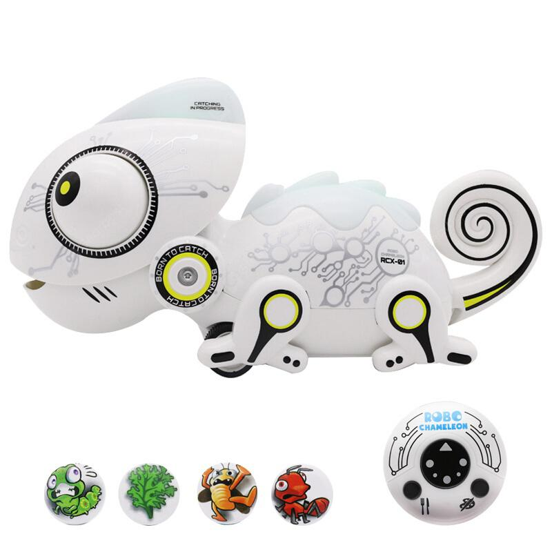 Intelligent Chameleon Remote Control Electric Machine Toy - WHITE