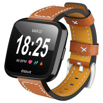 Fashion Leather Replacement Watch Band for Fitbit Versa