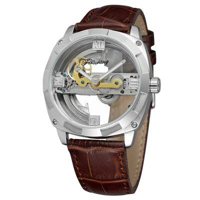 Forsining F207 Male Automatic Mechanical Watch with Genuine Leather Strap