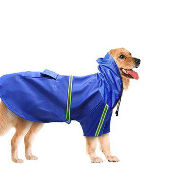 Waterproof Dog Hooded Raincoat with Reflective Strip
