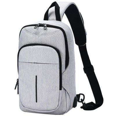 ozuko New Oxford Fabric USB Charging Business Chest Bag for Holding Stuff