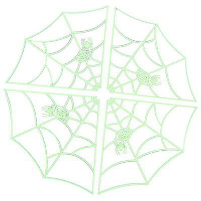Luminous Spider Web Decoration