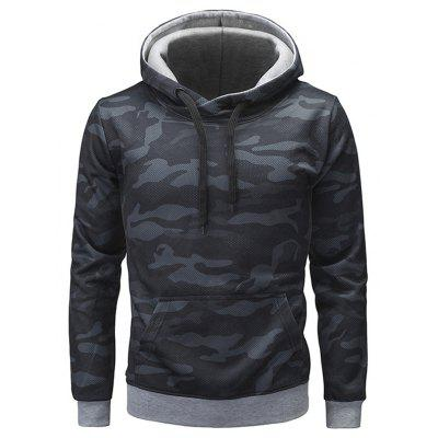 Trendy Camouflage Hoodie Sweatshirt for Men