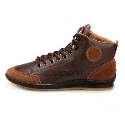 Men Stylish Comfortable Leisure Leather Casual Boots