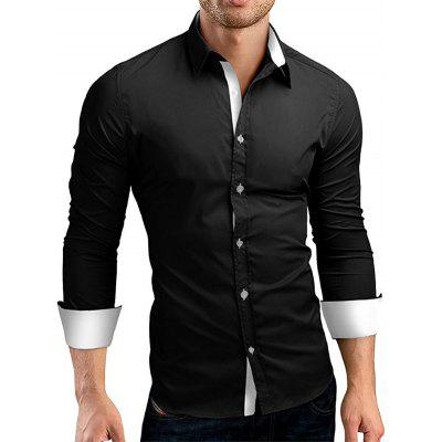 Trendy Business Solid Color Shirt for Men